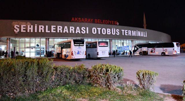 Terminalde bayram yoğunluğu başladı
