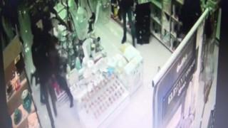 Sopalı saldırı güvenlik kamerasına yansıdı